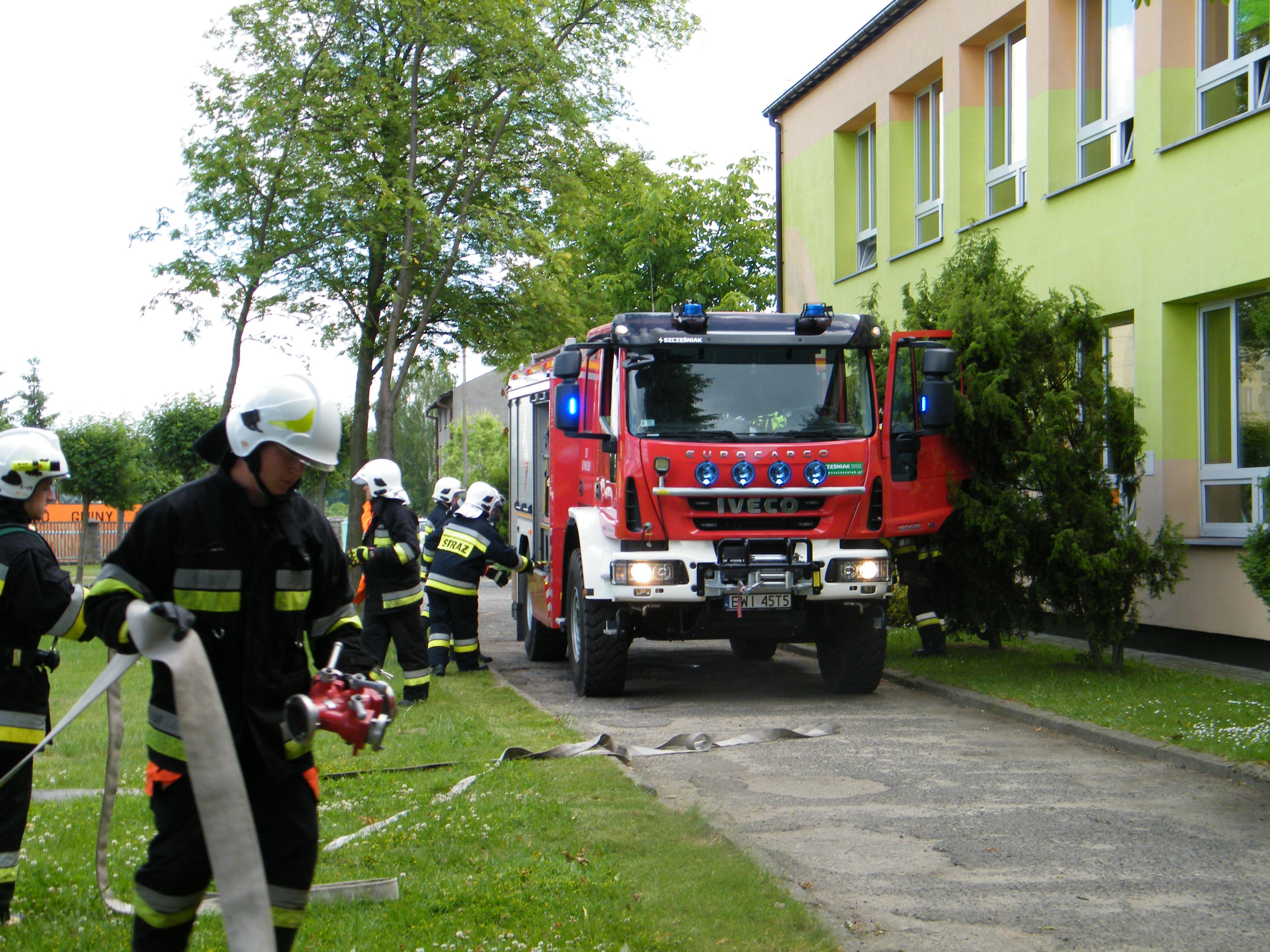 Ćwiczenia zzakresu sprawdzenia organizacji iwarunków ewakuacji wPublicznym Gimnazjum iwSzkole Podstawowej wKonopnicy