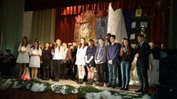Przedstawienie Bożonarodzeniowe wPublicznym Gimnazjum wKonopnicy