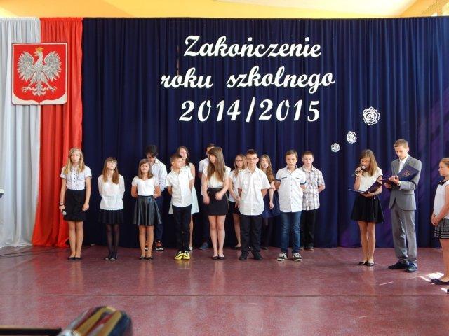 Zakończenie roku szkolnego 2014/2015 wszkołach podstawowych