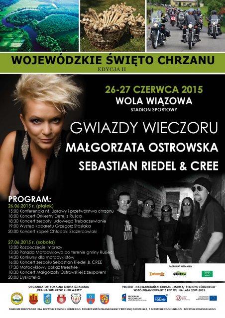 Zaproszenie na Wojewódzkie Święto Chrzanu do Woli Wiązowej