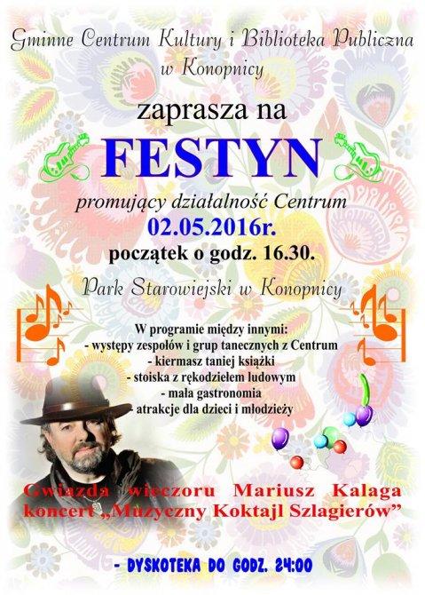 Zaproszenie Gminnego Centrum Kultury wKonopnicy