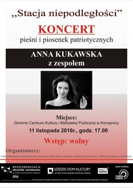 Zaproszenie na koncert pieśni ipiosenek patriotycznych