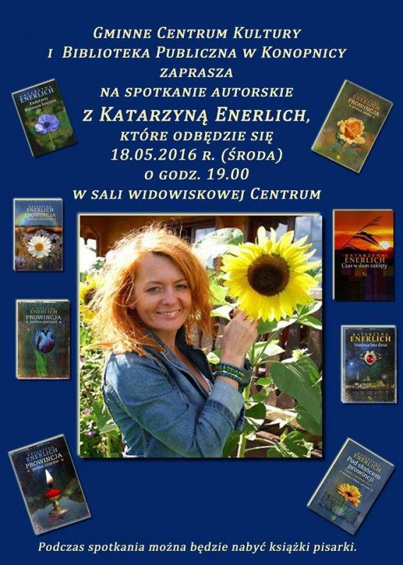 Spotkanie autorskie zKatarzyną Enerlich