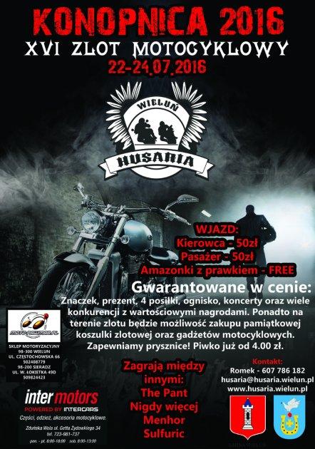 Zaproszenie na Zlot Motocyklowy - Konopnica 2016